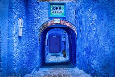Photograph - Hotel Entrance - Chefchaouen - Morocco by Stuart Litoff