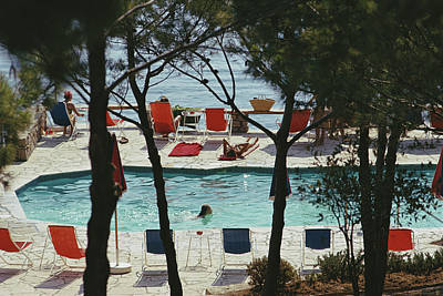 Beach Photograph - Hotel Il Pellicano by Slim Aarons