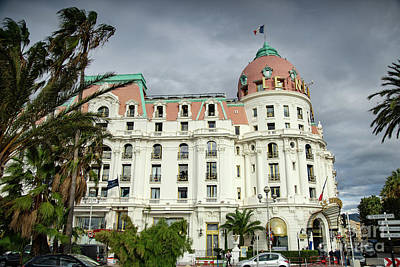 Photograph - Hotel Negresco Nice France Enchanting by Wayne Moran