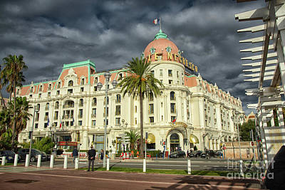 Photograph - Hotel Negresco Nice France From The Promenade Des Anglais by Wayne Moran