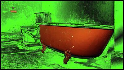 Surrealism Digital Art - Hotel Tub by Constance Lowery