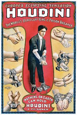 Painting - Houdini Vintage Poster, 1906 by Unknown