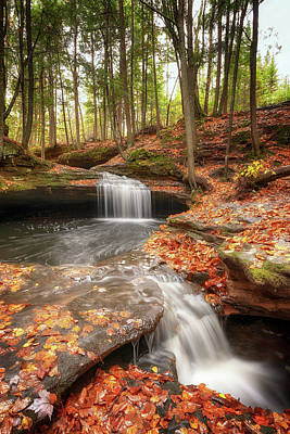 Photograph - Houghton Falls Nature Preserve by Susan Rissi Tregoning
