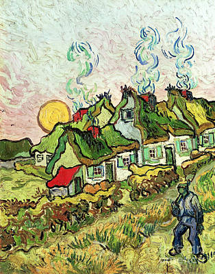 Painting - House And Figure, 1890 by Vincent Van Gogh