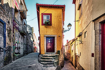 Photograph - House Between Two Alleys - Portugal by Stuart Litoff