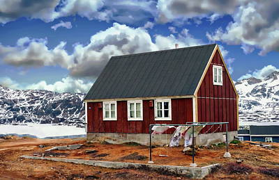Photograph - House In Tasiilaq by Anthony Dezenzio