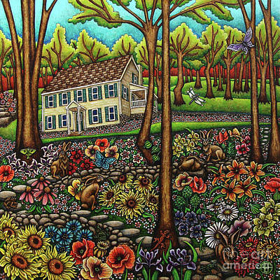 Painting - House In The Meadow  by Amy E Fraser
