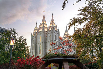 Salt Lake Temple Wall Art - Photograph - House Of The Lord by Dustin  LeFevre