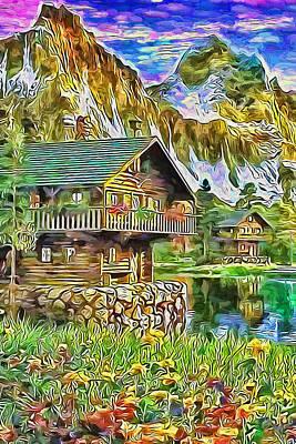 Lovely Lavender - House on mountain lake by Nenad Vasic