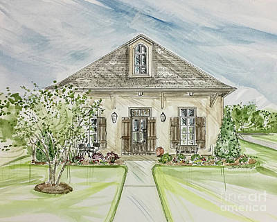 Mixed Media - House Rendering 36 by Lizi Beard-Ward