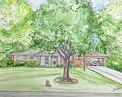 Mixed Media - House Rendering Sample 38 by Lizi Beard-Ward