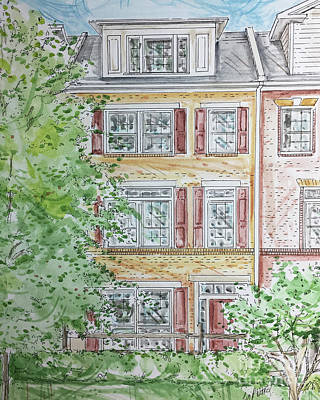 Mixed Media - House Rendering Sample 39 by Lizi Beard-Ward