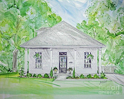 Mixed Media - House Rendering Sample 40 by Lizi Beard-Ward