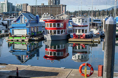 Photograph - Houseboats by Ross G Strachan