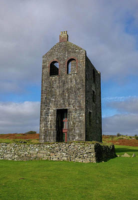 Photograph - Housemans Shaft Pumping Engine House Bodmin Moor Cornwall by Richard Brookes