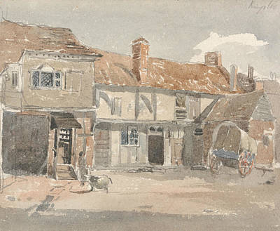 Drawing - Houses At Kingston On The Thames by Peter De Wint