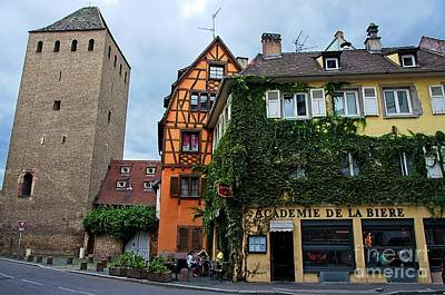 Photograph - Houses Close To Ponts Couverts Tower, Strasbourg by Elzbieta Fazel