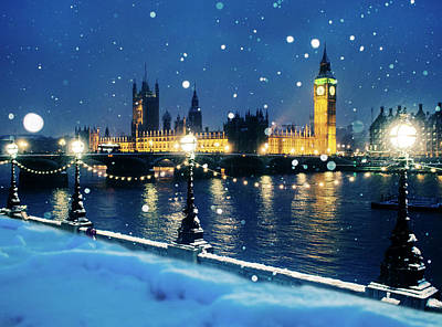 Photograph - Houses Of Parliament In Snow In London by Doug Armand