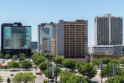 Financial District Photograph - Houston Main Street, Downtown by P A Thompson