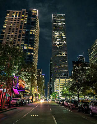 Rights Managed Images - Houston Night Life Royalty-Free Image by Dan Sproul