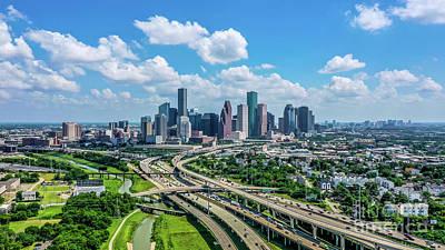 Monochrome Landscapes - Houston Skyline by Habashy Photography