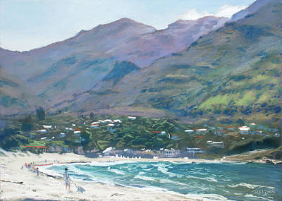 Pastel - Hout Bay Beach by Christopher Reid