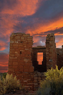 Photograph - Hovenweep Moon by Kathleen Bishop