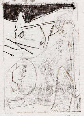 Drawing - How The Camel Got His Hump Black 4 by Artist Dot