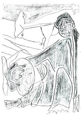 Drawing - How The Camel Got His Hump Digital And Drawings D10-5 by Artist Dot