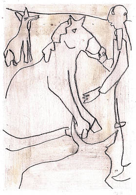 Drawing - How The Camel Got His Hump Digital And Drawings D16-3 by Artist Dot