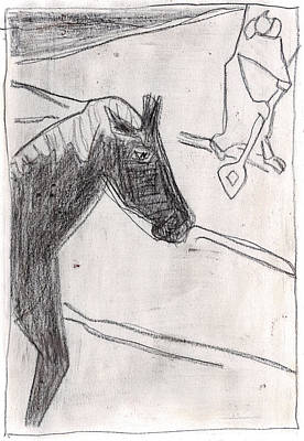 Drawing - How The Camel Got His Hump Digital And Drawings D5-3 by Artist Dot