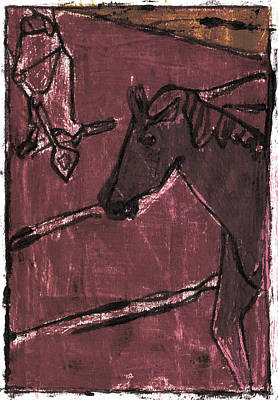 Painting - How The Camel Got His Hump Oil Otd Painting 24 by Artist Dot