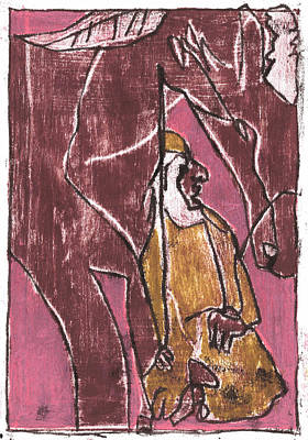 Painting - How The Camel Got His Hump Oil Otd Painting 5 by Artist Dot