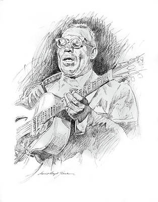 Musicians Drawings -  Howlin Wolf by David Lloyd Glover