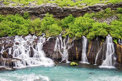 Photograph - Hraunfossar Falls - Iceland by Marla Craven