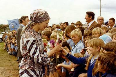 Painting - Hrh Princess Alexandra And The Honourable Angus Ogilvie Visiting Toowoomba  1978 by Celestial Images
