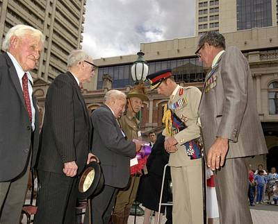 Painting - Hrh The Duke Of Kent Commemorating Anzac Day  Brisbane by Celestial Images