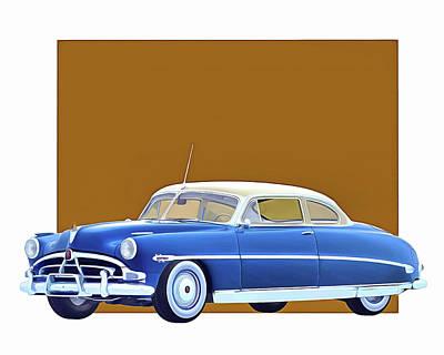 Digital Art - Hudson Hornet Coupe 1953 by Jan Keteleer