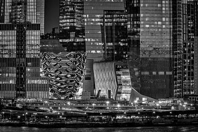 Photograph - Hudson Yards Vessel Nyc Bw by Susan Candelario