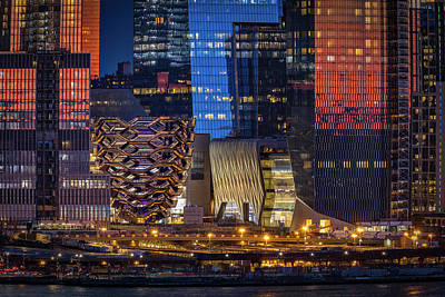 Photograph - Hudson Yards Vessel Nyc  by Susan Candelario