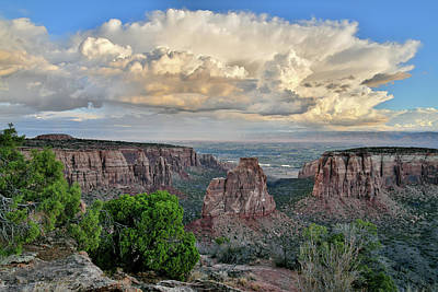 Photograph - Huge Storm Clouds Over Colorado National Monument by Ray Mathis