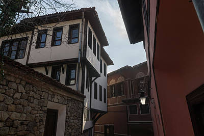 Photograph - Hugging The Narrow Streets - Old Town Plovdiv Beautiful Revival Houses by Georgia Mizuleva