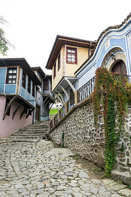 Photograph - Hugging The Narrow Streets - Old Town Plovdiv Fabulous Revival Houses by Georgia Mizuleva