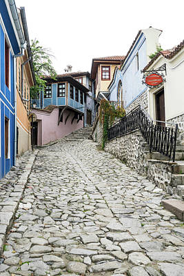 Photograph - Hugging The Narrow Streets - Old Town Plovdiv Splendid Revival Houses by Georgia Mizuleva
