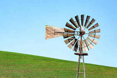 Photograph - Hughes Co. Windmill by Todd Klassy
