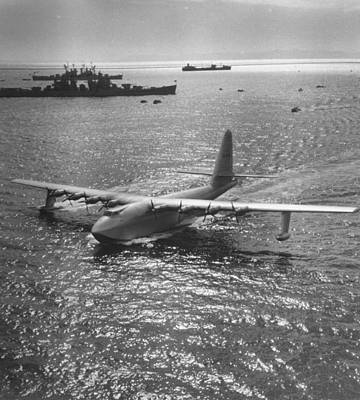 Flying Photograph - Hughes Spruce Goose by J. R. Eyerman