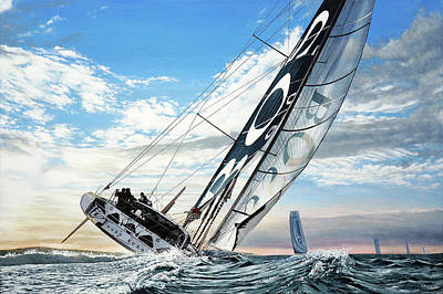 Painting - Hugo Boss Boat by Mark Woollacott