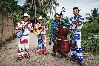 Musicians Royalty Free Images - Huicholes Musicians near Tepic in Mexico Royalty-Free Image by Kamran Ali