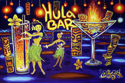 Painting - Hula Bar by CBjork