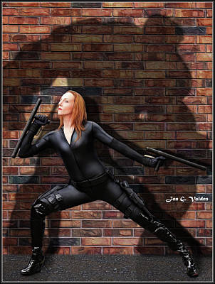 Photograph - Hulking Black Widow by Jon Volden